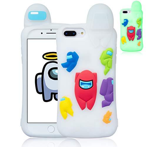 Darnew Among Luminous Custodia per iPhone 6 Plus 6S Plus 7 Plus 8 Plus Casi,Cartone Animato Carino Morbido TPU Freddo Divertente Cover per Bambini Ragazze Us Protettivo Custodia per iPhone 8 Plus