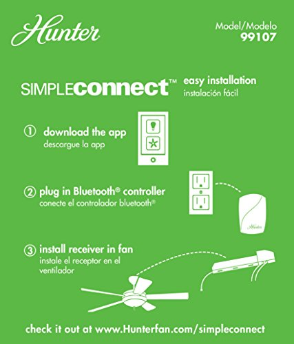 Hunter 99107 SimpleConnect Programmable Control, Small, White