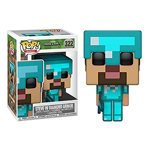 Luck7DZ Steve en el Diamante Armor Games Pop Minecraft Exquisito Paisaje Decoración y Figura Coleccionable