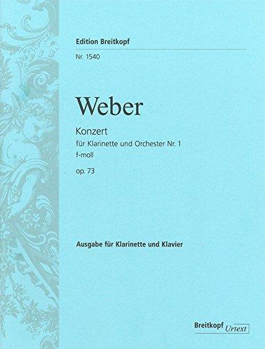 WEBER - Concierto no 1 Op.73 en Fa menor para Clarinete y Piano (Urtext) (huiswoud/Hermann)
