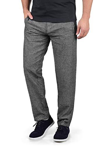 Indicode Ledionos Herren Leinenhose Lange Stoffhose Regular Fit, Größe:M, Farbe:Black (999)