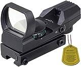 MAYMOC 11 mm guía Inferior Ajustable Montaje de Alcance de Vista múltiple 4 Red Dot Sope y Accesorios para cámara para Exteriores