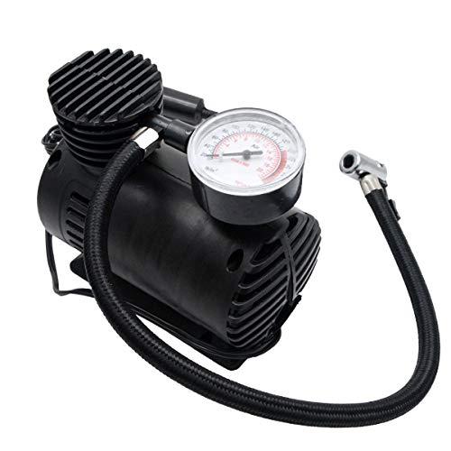 MASO Mini-Luftkompressor-Pumpe, 12 V, tragbare Auto-Luftkompressoren, elektrische kompakte Reifenpumpe mit Manometer, 300 psi