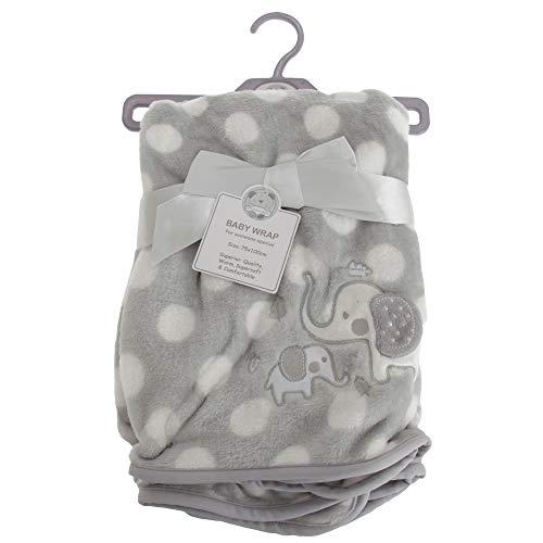Snuggle Baby - Châle ELEPHANT - Bébé (75 cm x 100 cm) (Gris)