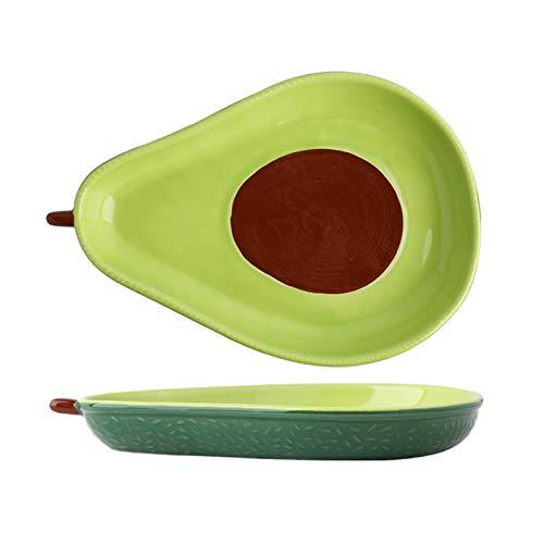 Plato de Postre Cerámica Juego de 2, Creativo Diseño de Forma de Fruta Tazón Fuente de Ensalada, Plato de Aperitivo Postre Ensalada (2 Pieces, S)