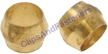 25 Brass Compression Fitting Sleeves 1/4