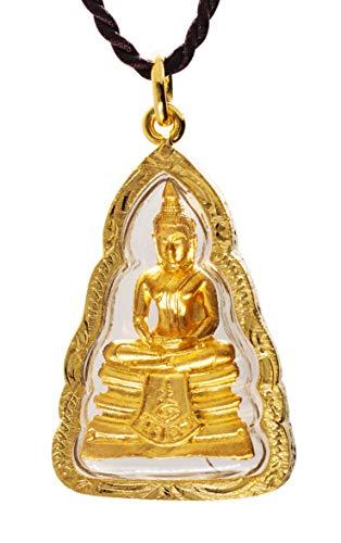 Phra LP Sothorn Buddha Dhyana Meditation Mudra Golden Thai Amulet Pendant