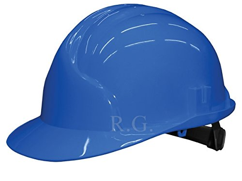 Unbekannt Bauarbeiterhelm Schutzhelm Bauhelm Schutzhelme Helm EN 397 53-61 cm 6 Farben (Blau)