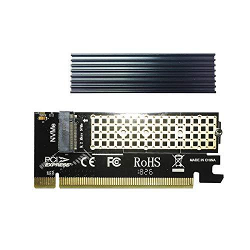 glotrends NVME Adapter PCIE mit M.2 Kühlkörper M.2 Adapter für Key-M PCIE M.2 SSD (PA05-HS )