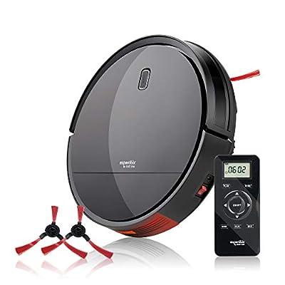 Enther Experobot C200 Robot Vacuum Cleaner with Gyro Lidar Navigation Infrared Sensor, 2-Hour Runtime, Self-Charging for Pet Hair, Hard Floor and Carpet, Black