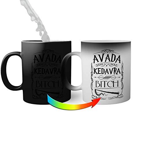 Trendy Avada Kedavra Bitch Taza mágica   Funny Novelty Tazas mágicas 330ml