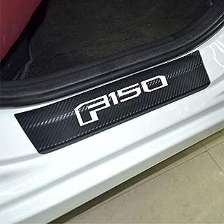 Carbon Fibre Vinyl Reflective Car Door Sill Decoration Scuff Plate for Ford F-150 Car Accessories (white)