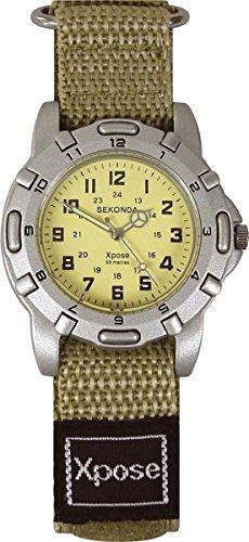 Sekonda Hombres XPOSE Caqui Velcro Correa Reloj De Pulsera 50Mtr WR 3476