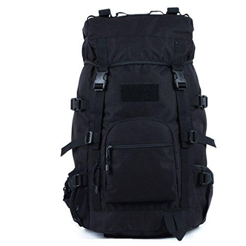 sac à dos randonnée Les hommes et les femmes alpinisme sacs 45L sac à bandoulière étanche sac de Voyage de grande capacité Sacs à dos de randonnée ( Couleur : Noir , taille : 45L )