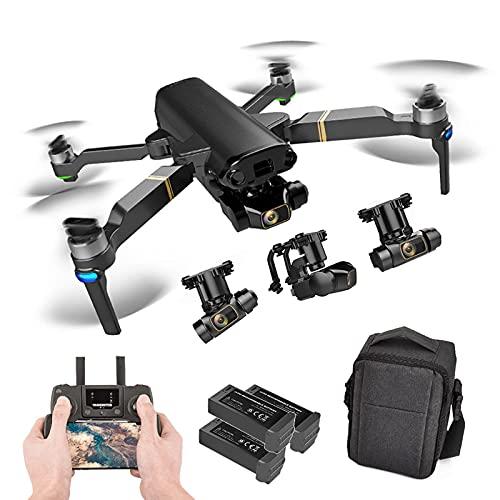 J-Clock Drone con Doppia Fotocamera per Bambini, Fotocamera 8k +1080P Quadcopter Ultraleggero e Pieghevole, Ritorno Automatico a casa, seguimi, waypoint, Custodia per Il Trasporto