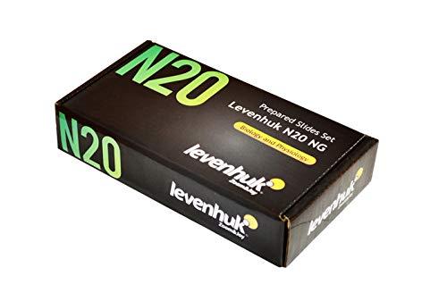 Levenhuk Set di Vetrini Preparati N20 NG per Biologia e Fisiologia con Vetrini Vuoti e Coprivetrini Compresi nel Kit