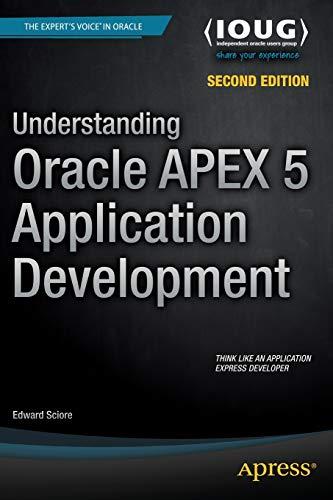 Understanding Oracle APEX 5 Application Development