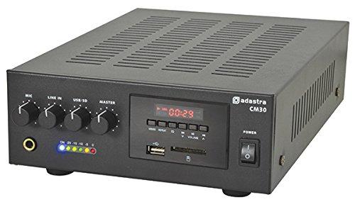 AMP14 CM-Serie CM30 30 W Compact 100 V / 8 Ohm Line Mixer, Verstärker, 2U Gehäuse, Mikrophone-Eingang, USB/SD-Player, klein/mittelgroß PA-Installationen