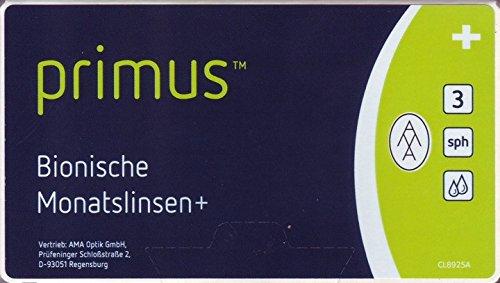 Primus Bionische Monatslinsen+ Stärke wählbar, gewählt -02.00