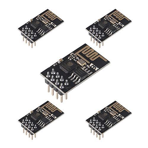 ALMOCN ESP-01 Modul, ESP8266 serielle drahtlose Transceiver-Platine, WLAN-Empfänger-Modul LWIP Internet-WLAN-Modul