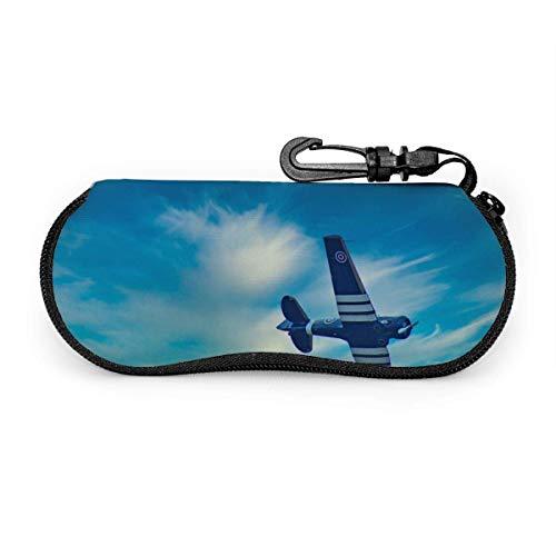 Spitfire Sonnenbrille Soft Case Ultra Light Neopren Reißverschluss Brillenetui mit Karabiner für Männer Frauen