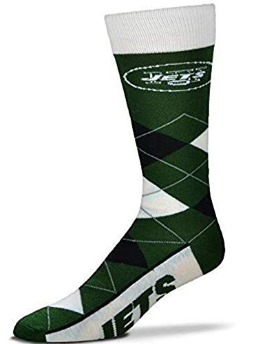 For Bare Feet - NFL Argyle Men's Crew Socks - New York Jets