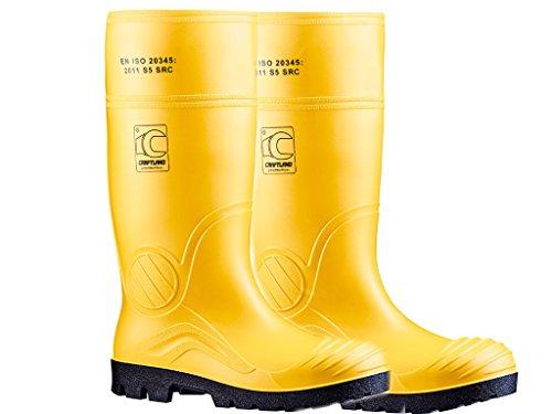 Craftland PVC-Sicherheitsstiefel Gelb S5 (46)