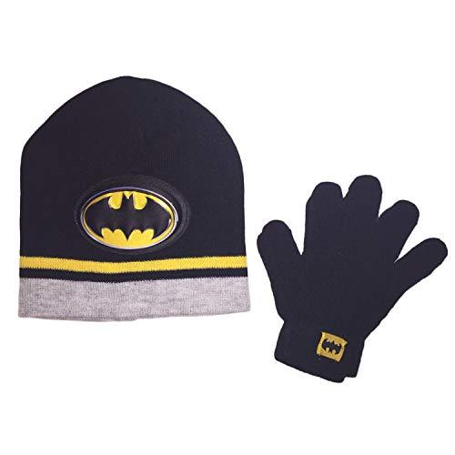 Batman Little Boys Beanie Hat and Gloves Winter Set