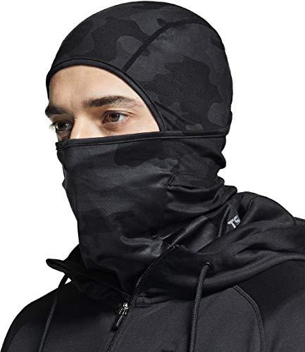 TSLA Thermal Winter Balaclava Face Mask, UV Protection Fleece Lined Ski Mask, Lightweight Windproof Neck Gaiter, Thermal Balaclava(yzb06) - Camo Black, Large