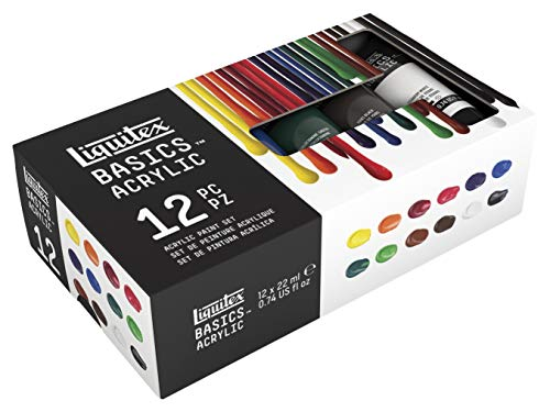 Liquitex Basics - set di 12 tubi da 22ml