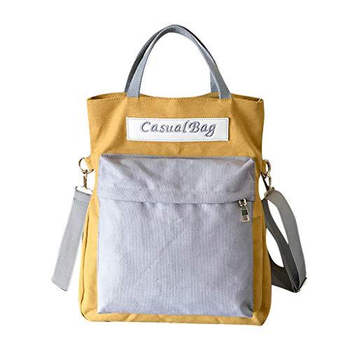 Unisex Farbblock Rucksack Umhängetasche Handtasche Fashion Mädchen Student Schulrucksäcke Casual Daypack für Reise Outdoor Schultasche LEEDY