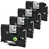 Oozmas Compatible Label Tape Replacement for Brother P-Touch Tze-131 Tape 12mm (0.47 inch) Black on Clear Standard Laminated Compatible with Label Maker PT D210 H110 D600 1230PC 1280