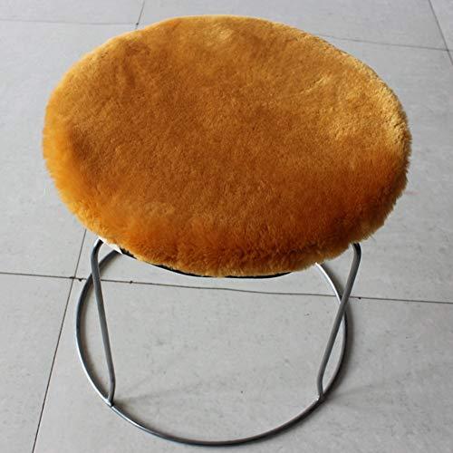 YLCJ Pluche zitting padding, Kussen pi & ugrave; dik zitkussen ronde kruk ronde pad drum kussen kruk warme winter-kleur kameel mat 20x30cm (8x12inch)