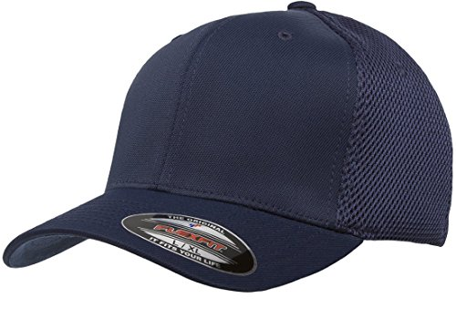 Flexfit 6533 Ultrafibre & Airmesh Fitted Cap, Navy - Large/X-Large