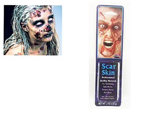 Zombie Halloween Cicatrice Peau Mort Plaies Sanglantes Latex Cicatrices Adhésif Chair Plaie