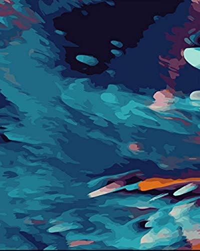 no brand,pintar por numeros adultos Cuadro abstracto Principiante Niños DIY Pintura al óleo digital Set Decoración del hogar Arte Regalo-Sin Marco 60X75Cm