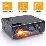 Proyector Cine en Casa 4800 Lúmenes - Artlii Energon Proyector HD Led, Admite Dolby AC-3,Altavoces Estéreo Duales, Zoom, Soporta Full HD 1080P, USB / HDMI / SD / AV / VGA