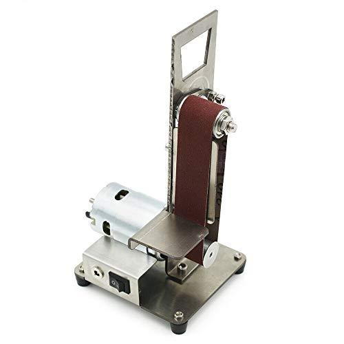 OUKANING DIY Elektrische Mini Bandschleifer Vertikale Fest WinkelschäRfer Tisch Schneide 795 Motor 300W