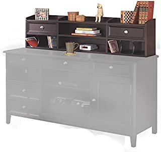 Signature Design by Ashley Carlyle Collection Home Office Desk Hutch, Almost Black