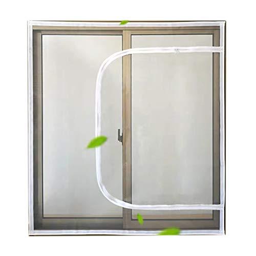 DUCHEN - Malla de protección para ventanas para gatos con cremallera, mosquitera autoadhesiva, antimosquitos y cortada a medida
