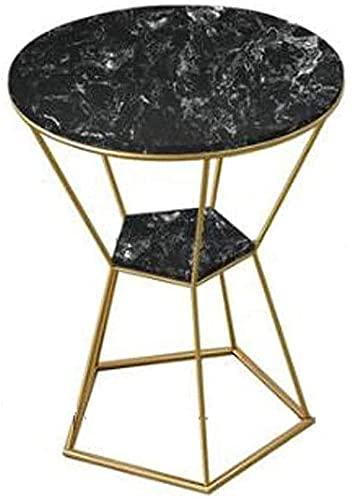 XUERUIGANG Mesa de Extremo, Mesa de café de Acento Redondo, Mesa de mármol, Mesa de Noche de Mesa Moderna Mesa de Noche de Mesa para Sala de Estar Balcón, decoración, fácil Montaje