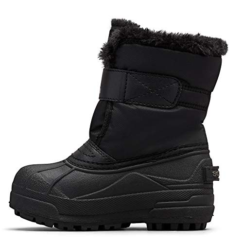Sorel - Youth Snow Commander Snow Boots for Kids, Black, Charcoal, 6...