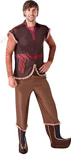 Rubies - Disfraz oficial de Disney Frozen 2, Kristoff Deluxe para adulto, tamaño estándar/mediano para hombre