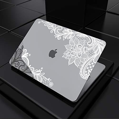 SDH Funda protectora para MacBook Air de 13 pulgadas 2020, MacBook Air de 13 pulgadas A2337 M1 A2179 A1932 con retina, nueva tecnología bronceadora funda para portátil encaje plateado metálico 4
