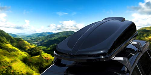 Moove - Baúl portaequipajes de techo para coche, 530 litros, doble apertura, color negro brillante, universal, 75 kg de carga aerodinámica