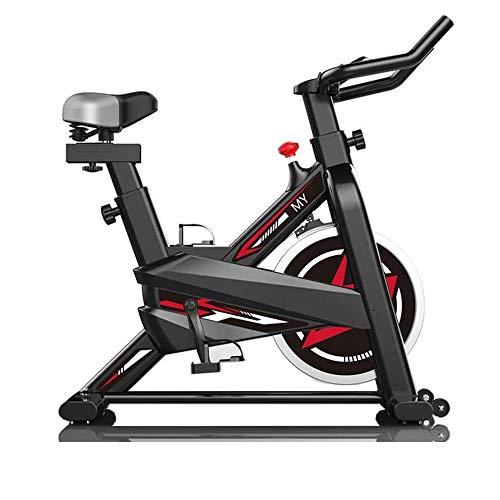 Ciclismo Indoor bicicleta estática, la correa de accionamiento directo 6Kg volante, resistencia magnética, 3-piezas de manivela, for el hogar cardio del gimnasio con un cómodo cojín de asiento