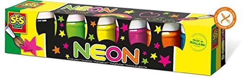SES-Creative-Hobby e creatività Giochi Outdoor Colori Liquidi Neon, 6 Pezzi, 20330