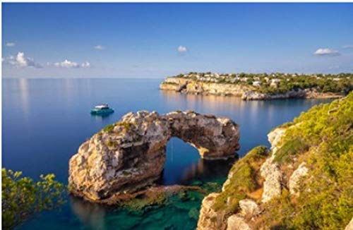 ZZXSY Puzzle Adultos Es Pontas En Mallorca Arco Natural En El Mar Mediterráneo Al Amanecer Adecuado