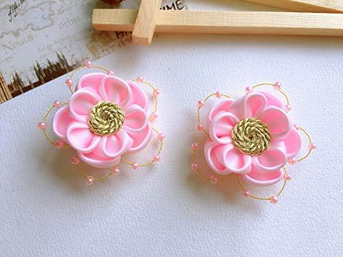 Tsumami Kanzashi - Clip para el pelo con diseño de flor de geisha japonesa, color rosa