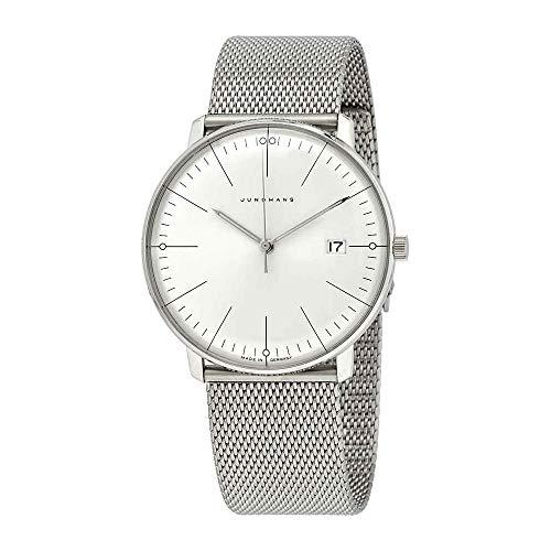 Junghans max Bill Quarz Armbanduhr mit Milanaiseband 041/4463.48